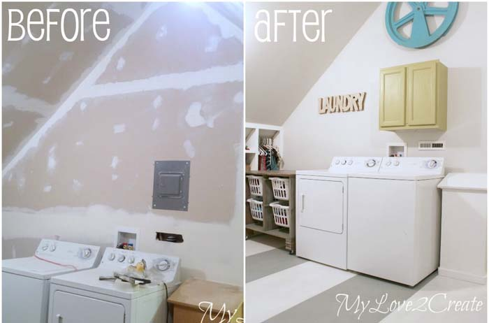 From Clutter to Clean #laundryroom #makeover #decorhomeideas