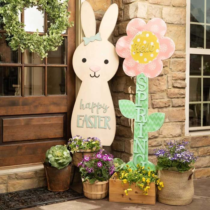 Hopeful and Awesome Ideas to Keep Easter Hopping #outdoor #springdecor #decorhomeideas