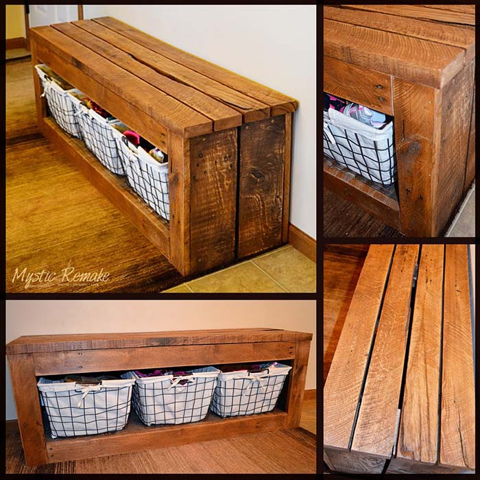 Made From Scrap Storage Bench