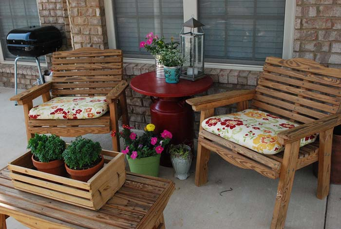 Milk Can Table #outdoor #springdecor #decorhomeideas