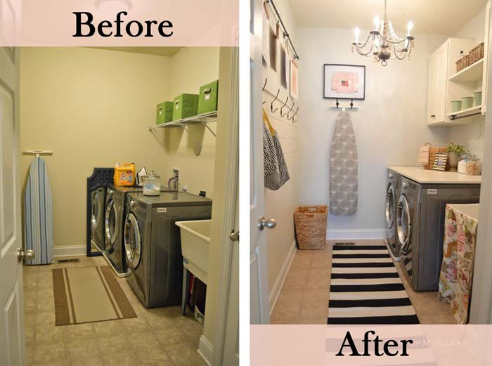 Pretty Chic and Organized #laundryroom #makeover #decorhomeideas