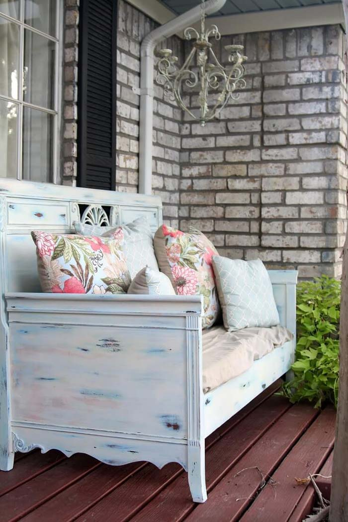 Pretty Patterned Outdoor Staging Area #rustic #porch #vintage #decorhomeideas
