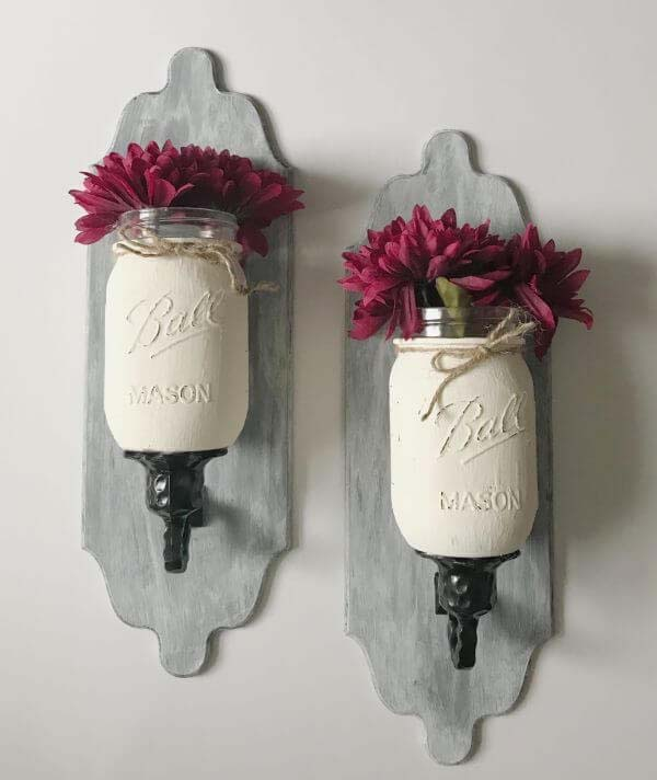 Rustic Yet Elegant Wall Sconces #springdecor #dollarstore #decorhomeideas