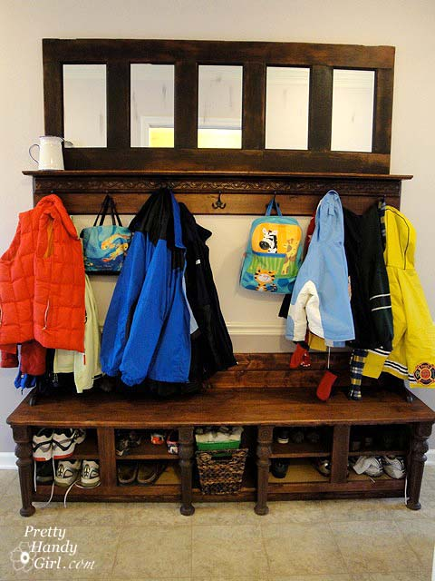 Shoe Storage Bench From Kitchen Cabinets