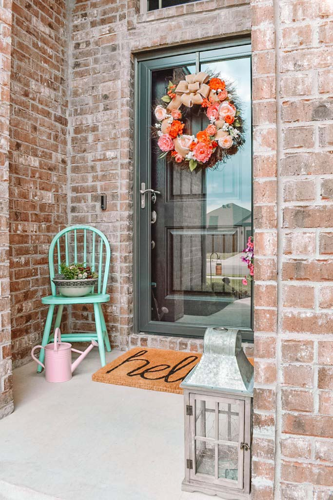 Spring Front Door Decoration #outdoor #springdecor #decorhomeideas