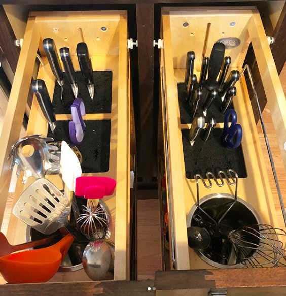 Vertical Knife & Utensil Storage #kitchen #hacks #organization #decorhomeideas