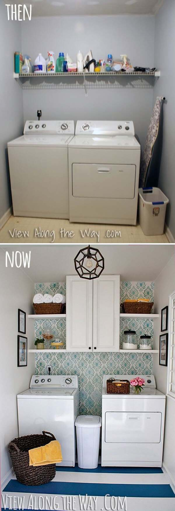 Wallpaper Wow And more Updates #laundryroom #makeover #decorhomeideas