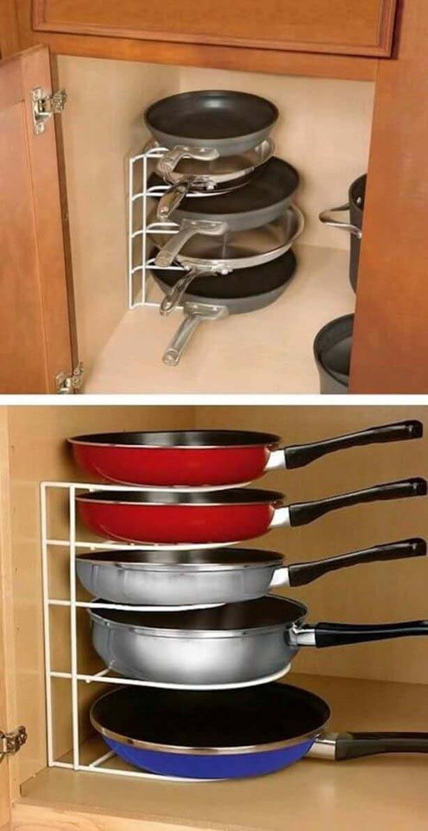Wire Shelving For Storing Pans #storage #organization #decorhomeideas