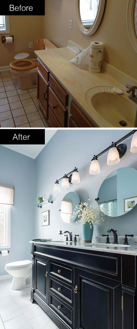 Always Go Double if You Have the Space #bathroom #makeover #decorhomeideas