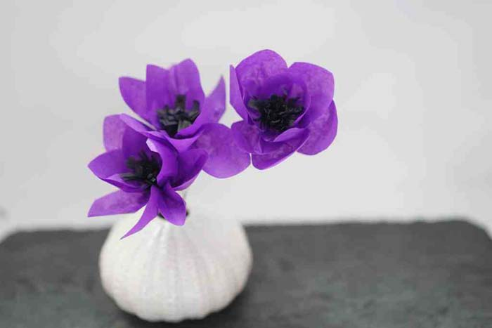 Anemone Flower Made from Tissue Paper #floral #homedecor #decorhomeideas