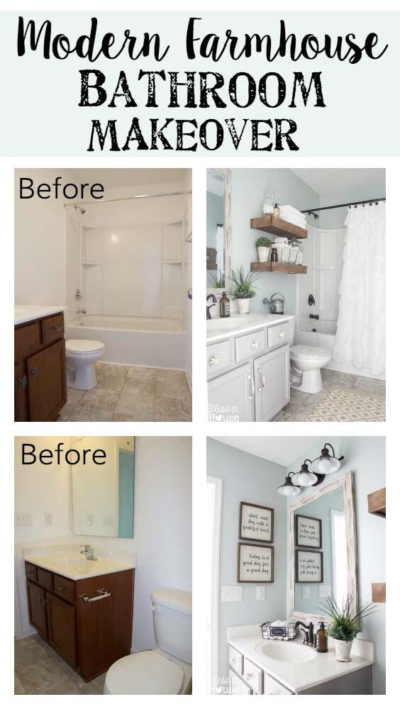 Bathrooms are Easy for Big Before and After Changes #bathroom #makeover #decorhomeideas