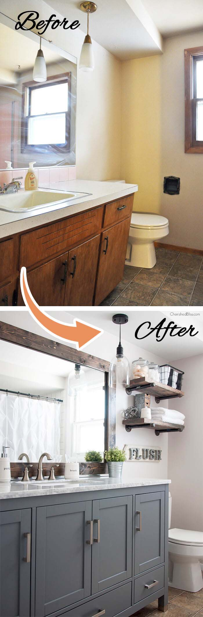 Before and After Total Transformation #bathroom #makeover #decorhomeideas