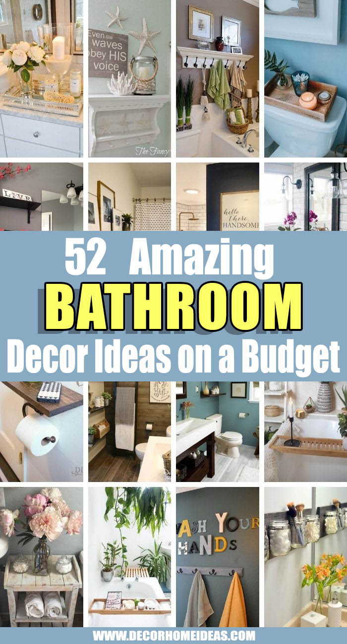 Best Bathroom Decor Ideas. We're spotlighting 50+ cheap and chic bathroom styling tips and hacks to make stylish, fresh interiors a little more accessible. Keep reading for tons of bathroom decorating ideas on a budget.  #decorhomeideas