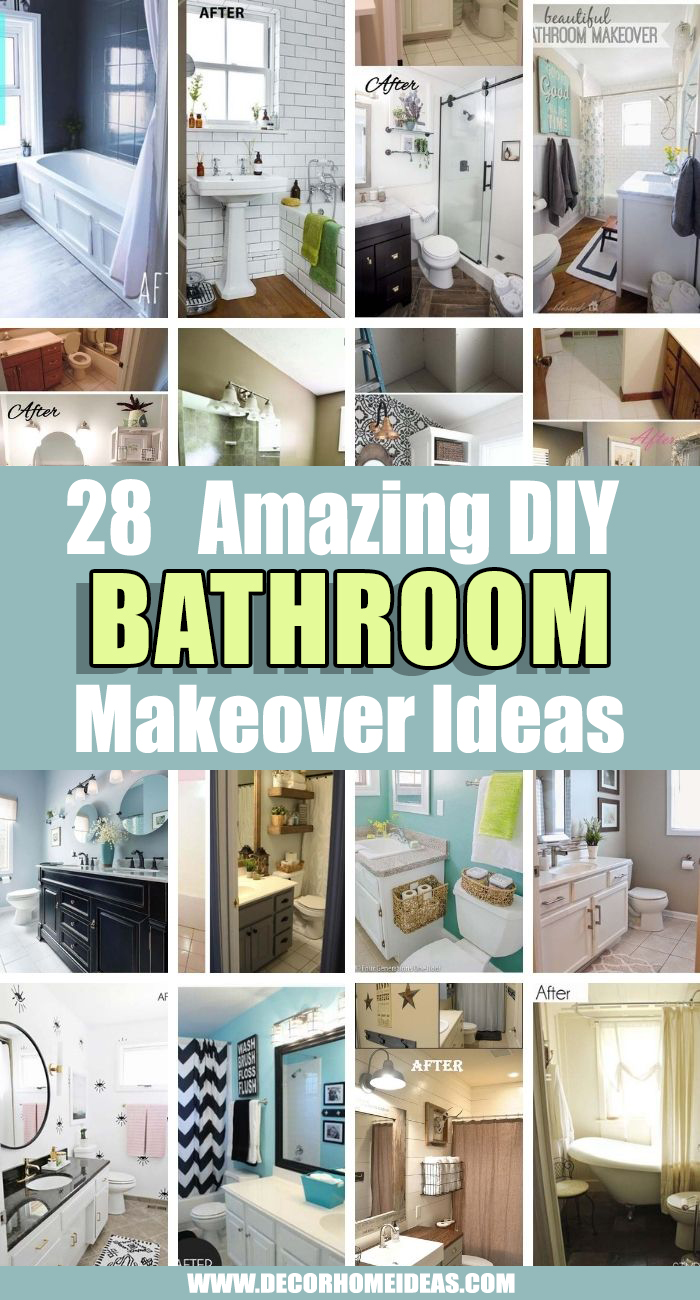 Best Bathroom Makeover Ideas. Are you considering a major change in your bathroom? We have selected the best bathroom makeover ideas to inspire you for your next bathroom remodel. #decorhomeideas