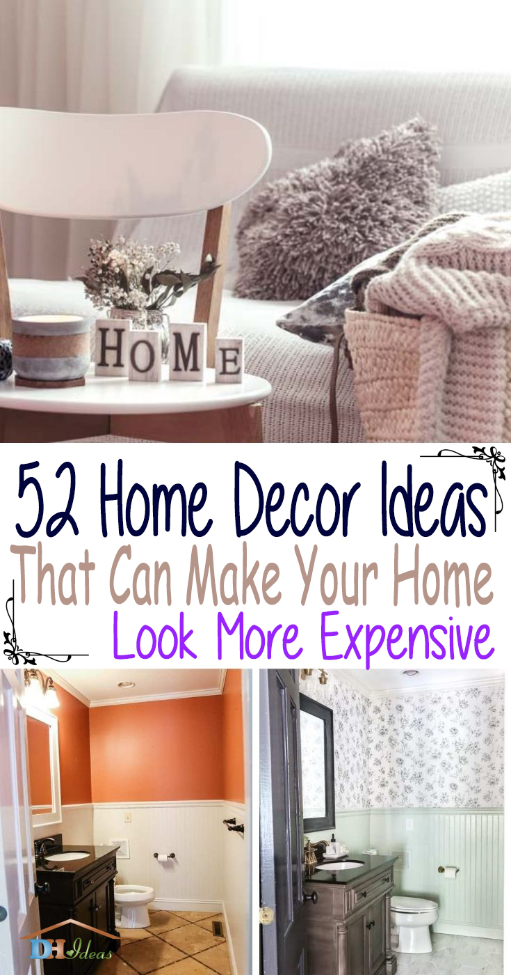 Best Home Decor Ideas Make Your Home More Expensive. Even on a budget, you can create a home that looks straight out of a luxury magazine. Our decorating tips and interior design ideas will add an extra flair of style to your home. #decorhomeideas