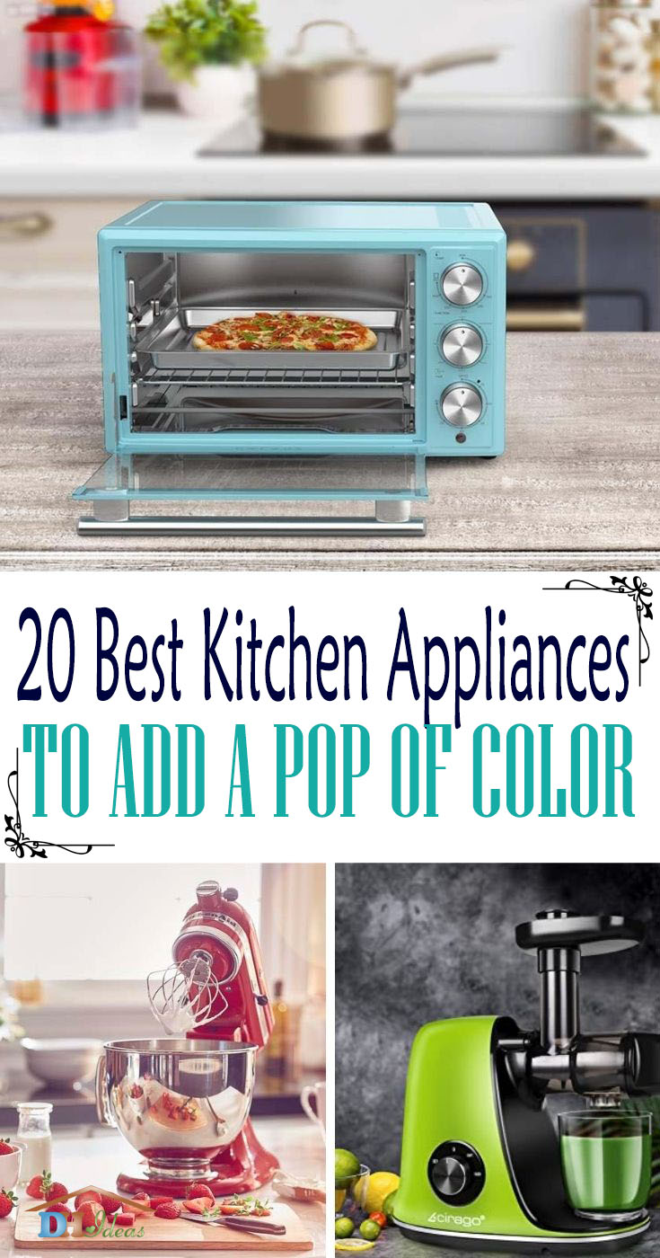 Best Kitchen Appliances Pop Of Color. For families who want a kitchen that's more eye-catching, why not upgrade the big and small kitchen appliances with a pop of color? These are the best kitchen appliances to spruce up your kitchen.