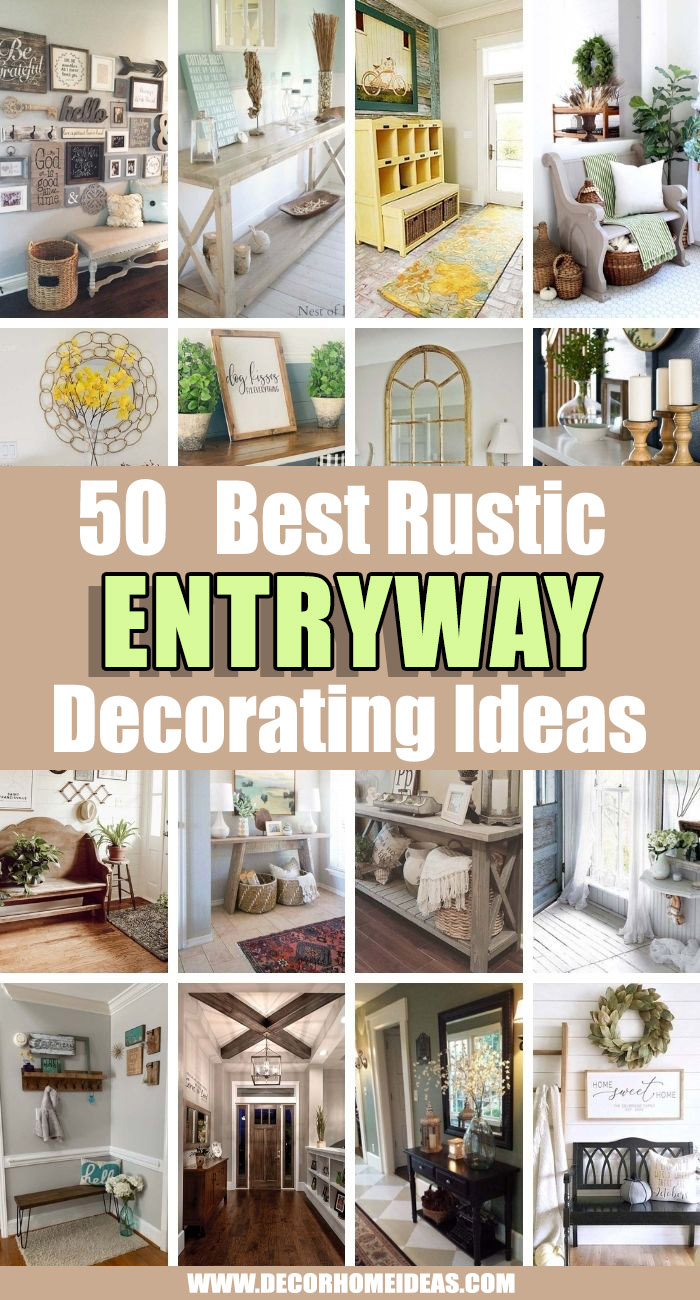 Best Rustic Entryway Decorating Ideas. These rustic entryway decorating ideas will show you how to create stylish and welcoming entryways. See the best designs and pick your favorite. #decorhomeideas
