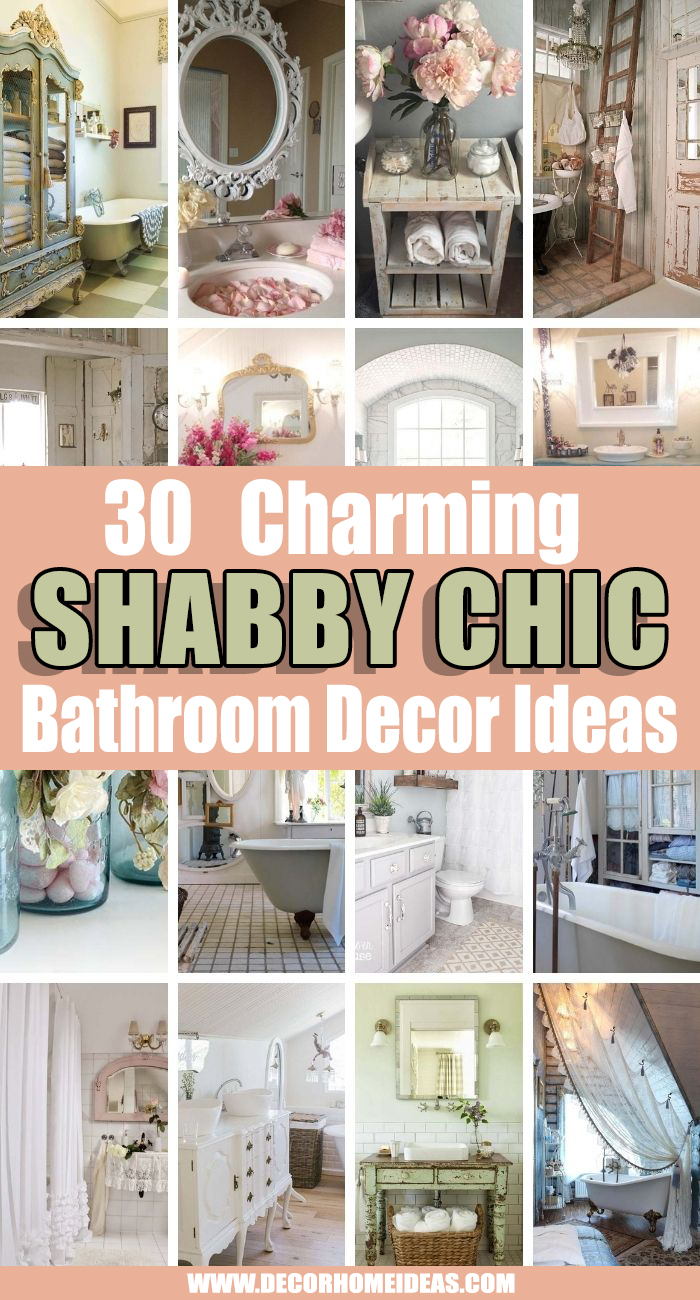 Best Shabby Chic Bathroom Decor Ideas. Don't you love that shabby chic look? We found some interesting shabby chic bathroom ideas that will take your attention and that will hopefully inspire you. #decorhomeideas