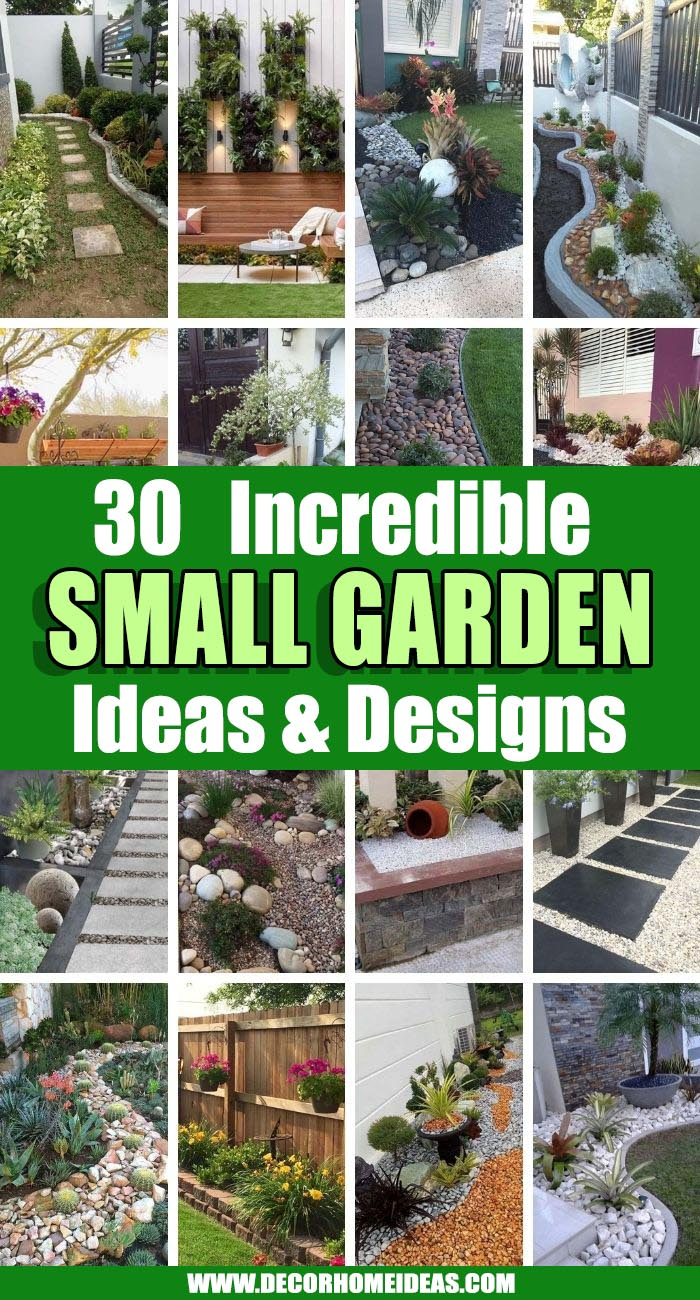 Best Small Garden Design Ideas. Small gardens need not be boring. With careful planning and the proper choice of plants, you can make them just as interesting as expansive landscapes. #decorhomeideas