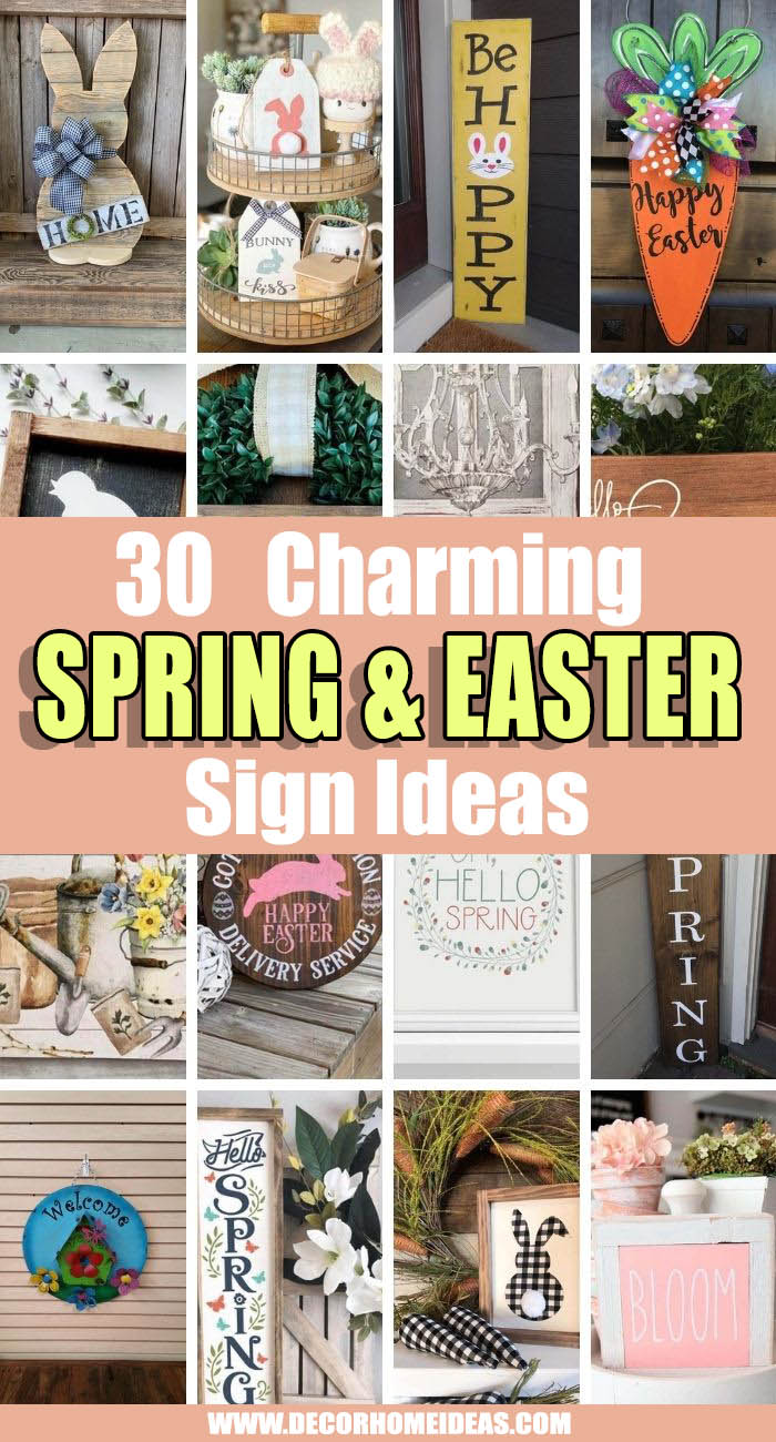 Best Spring And Easter Sign Ideas. The best spring and Easter sign ideas will simply enhance your own personal style. Discover some of the most beautiful designs and get inspired. #decorhomeideas