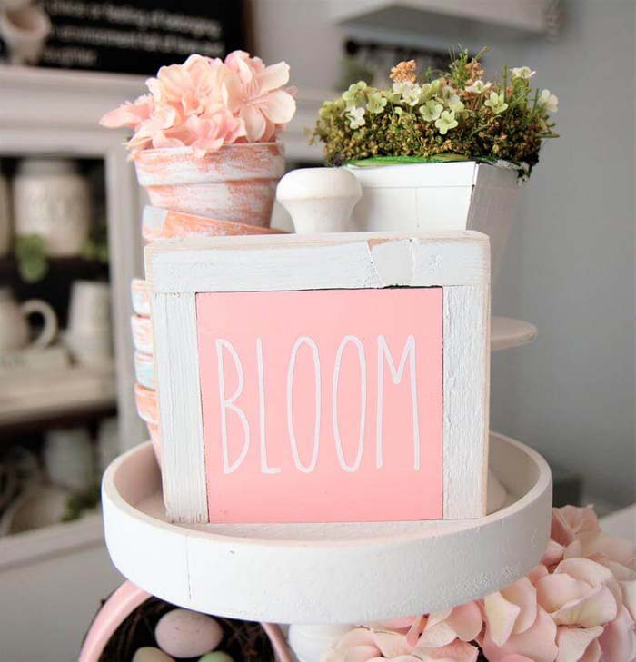 Best Spring Sign Ideas in Bloom #Easter #sign #decorhomeideas