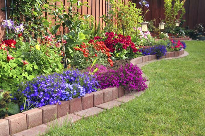Flowerbed With Edging