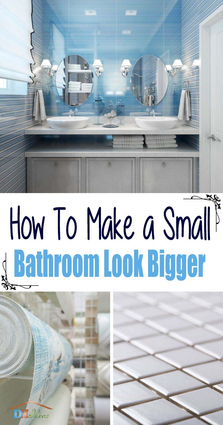 How To Make A Small Bathroom Look Bigger. Looking for small bathroom tricks and tips? Wanna know how to make a small bathroom look bigger? Discover the best small bathroom designs that will brighten up your space and make the whole room feel bigger! #decorhomeideas
