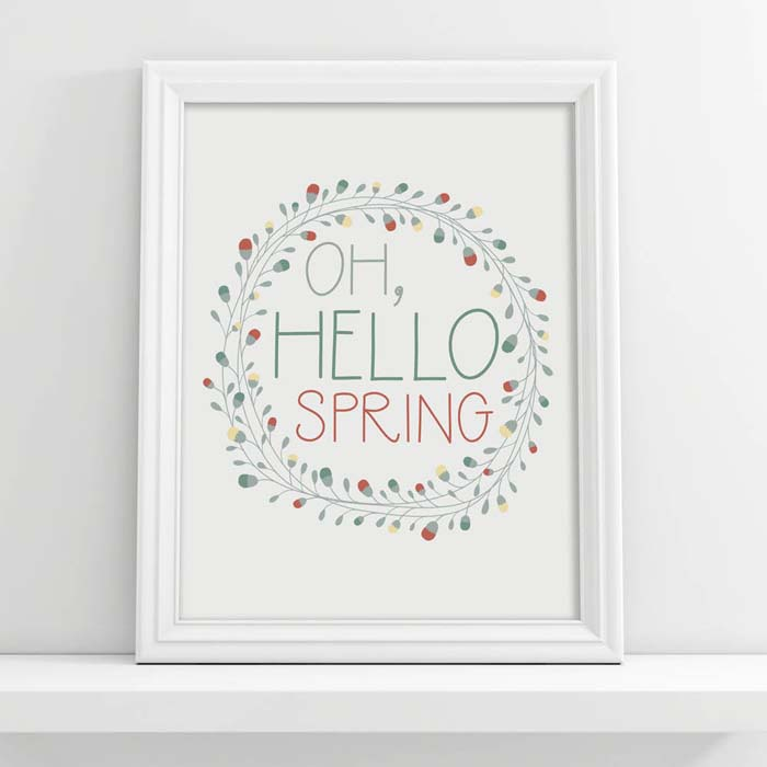 """""""Oh Hello Spring"""" Digital Download #Easter #sign #decorhomeideas"""