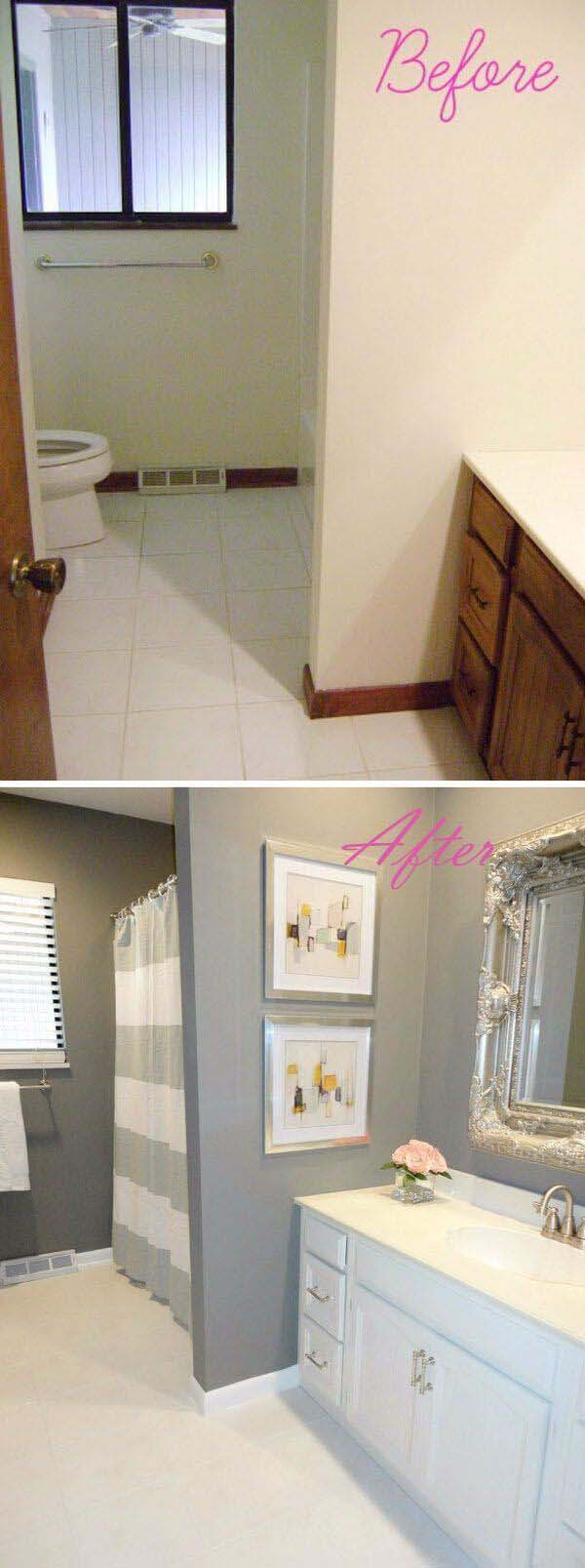 Paint and Art Can Update Your Look #bathroom #makeover #decorhomeideas