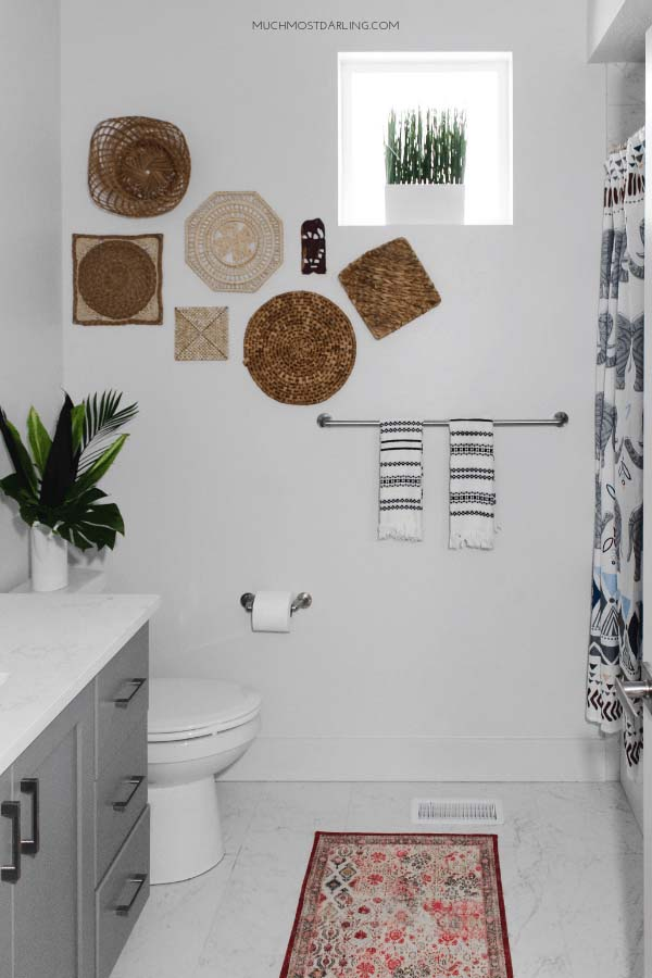 Picture this Textile Wall in your New Bathroom #bathroom #decor #decorhomeideas