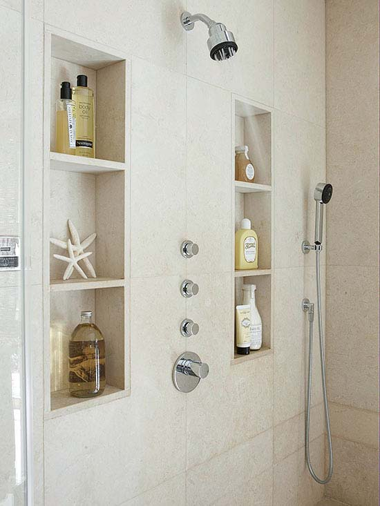 Recessed Shower Niche Shelves For Storage And Decoration