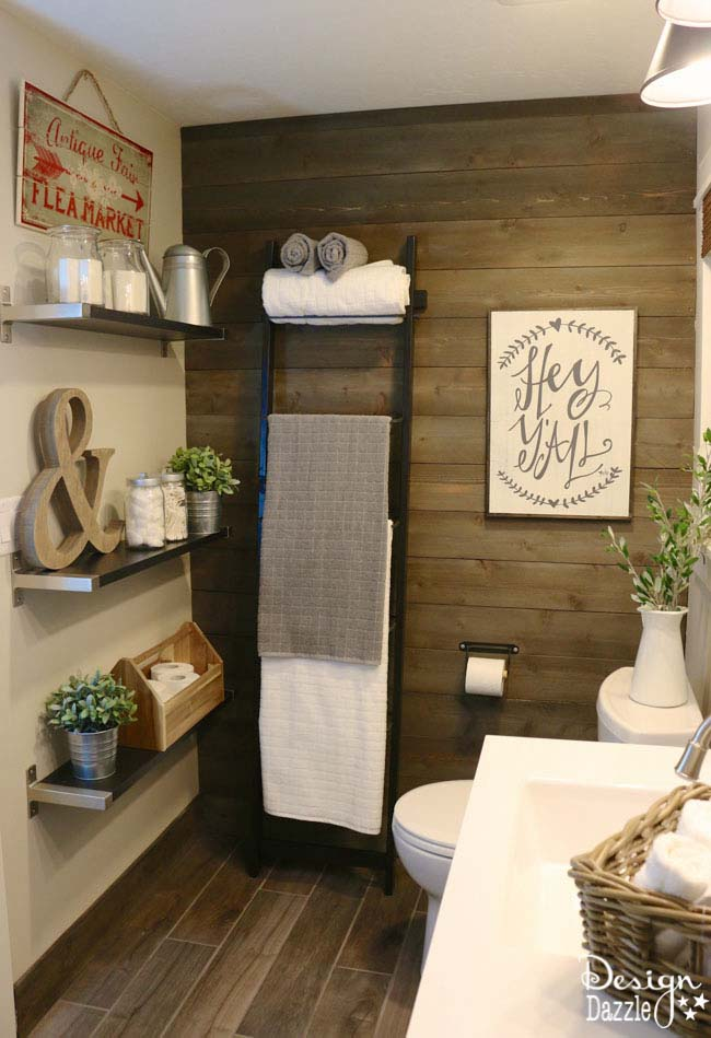 Relaxing Theme to Blend New and Old #bathroom #decor #decorhomeideas