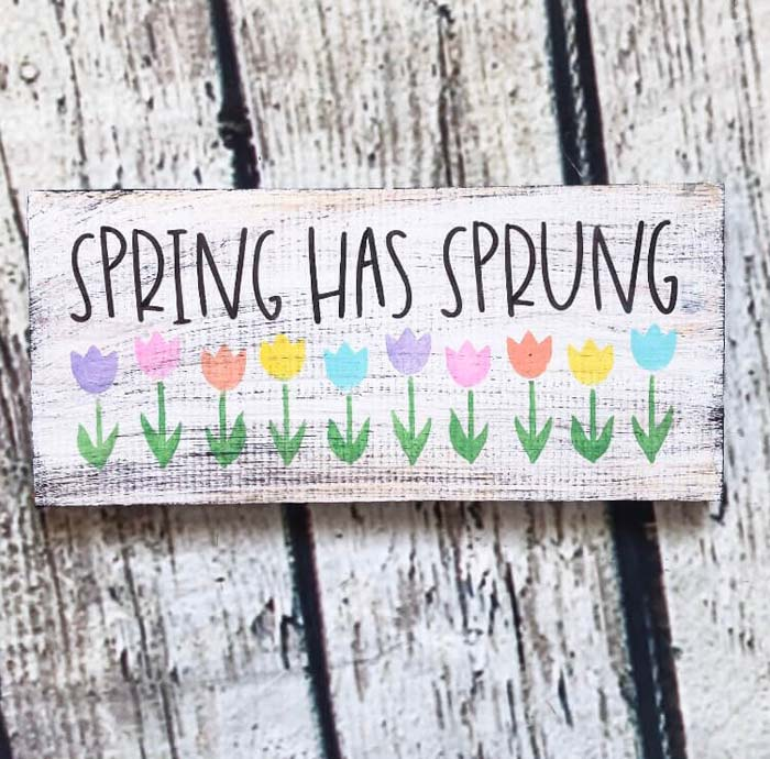 """Rustic """"Spring Has Sprung"""" Home Decoration #Easter #sign #decorhomeideas"""
