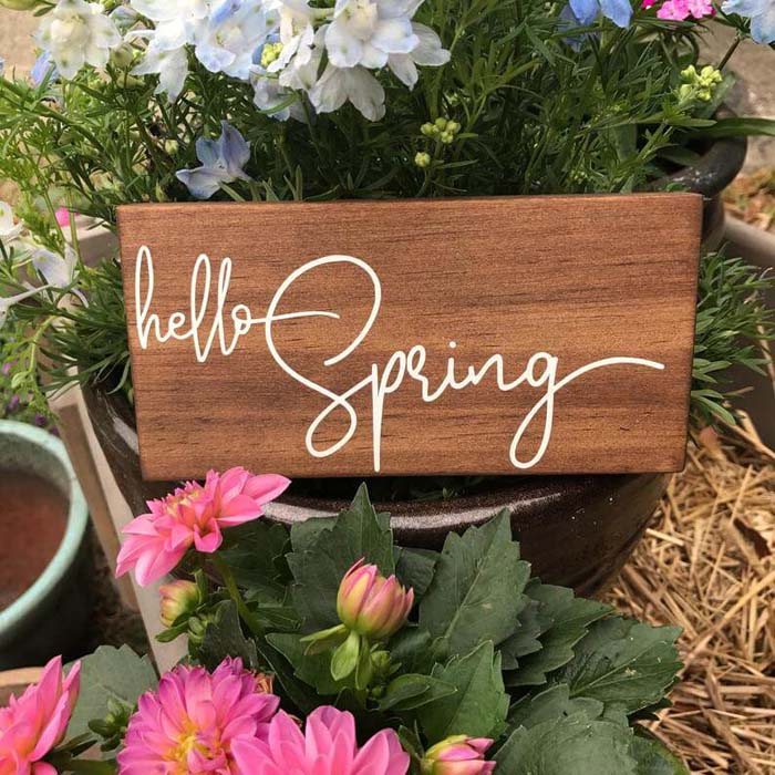 Simply Stated Wooden Spring Sign Decor #Easter #sign #decorhomeideas