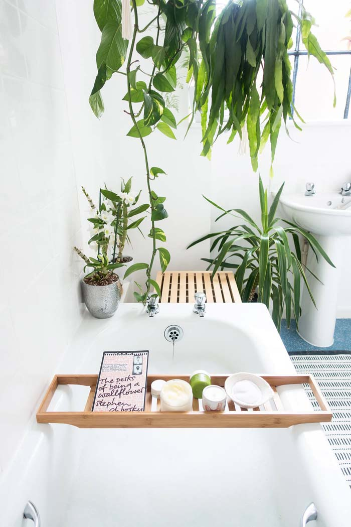 Slip into Serenity with Natural Light and Perfect Plants #bathroom #decor #decorhomeideas