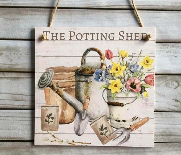 The Potting Shed Wooden Plaque #Easter #sign #decorhomeideas