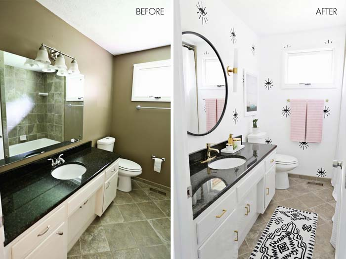 The Right Colors Make All The Difference #bathroom #makeover #decorhomeideas