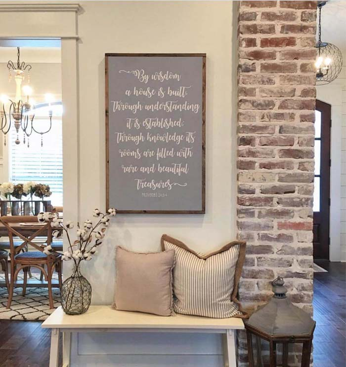 Let's Welcome Wisdom, Understanding, and Knowledge #rusticentryway #farmhouse #decor #decorhomeideas