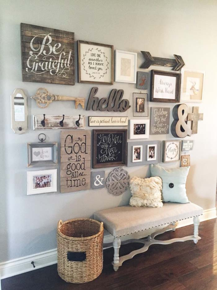 Welcoming Messages Create an Inviting Space #rusticentryway #farmhouse #decor #decorhomeideas