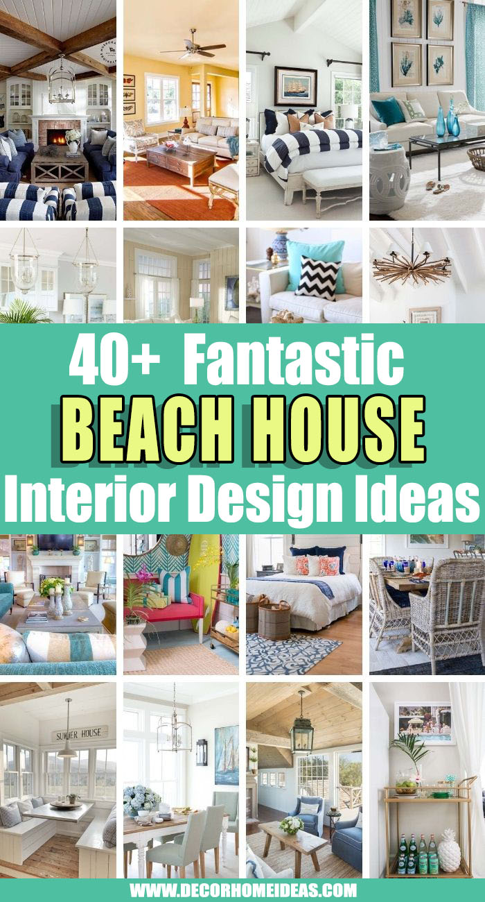 Best Beach House Interior Design Ideas. If you are in love with sun, beach and sand then these amazing beach house interior design ideas are what you need to make your home feel like a holiday escape. #decorhomeideas