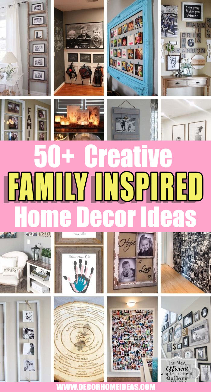 Best Family Inspired Home Decor Ideas. Would you like to add some memories and blessed moments to your home decor? These family home decor ideas will add a touch of personality to your room. #decorhomeideas