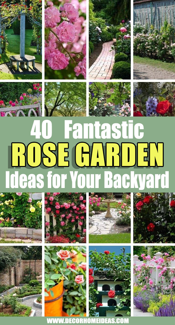 Best Rose Garden Ideas. As one of the most beautiful flowers in the world roses are easily incorporated into any garden decor. These rose garden ideas are your inspiration to make your backyard the best in the neighborhood. #decorhomeideas