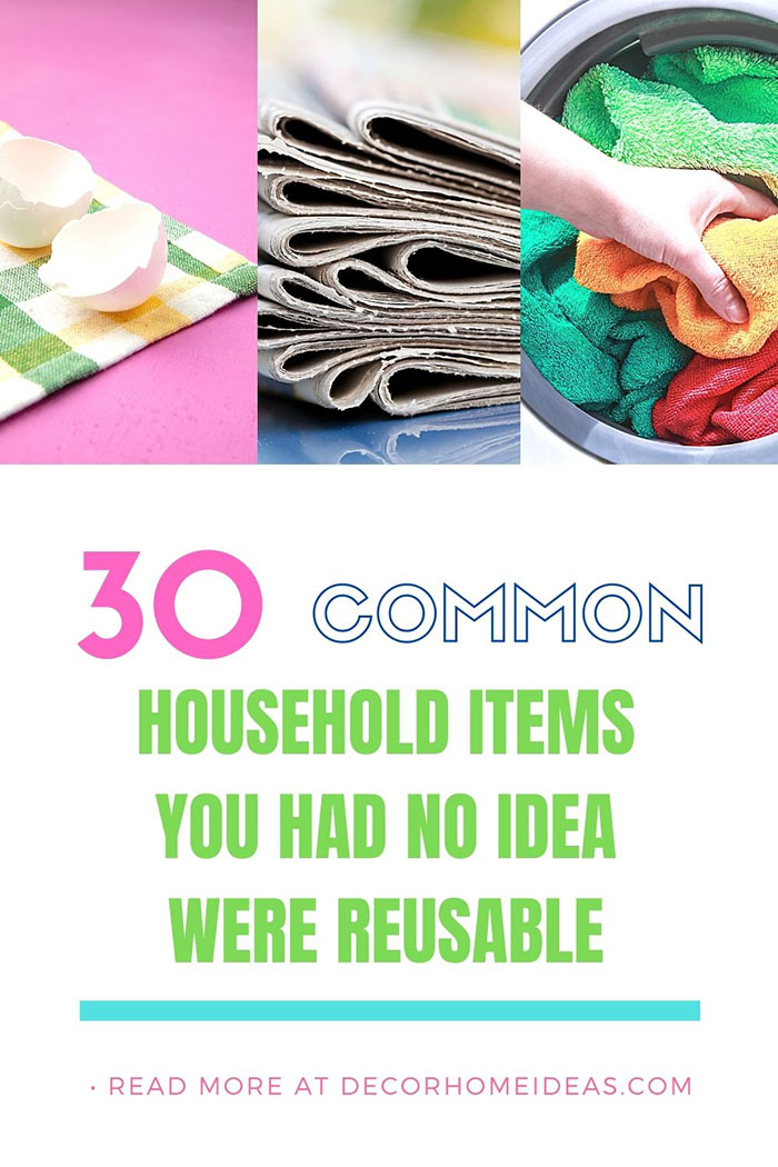 Common Household Items Reusable