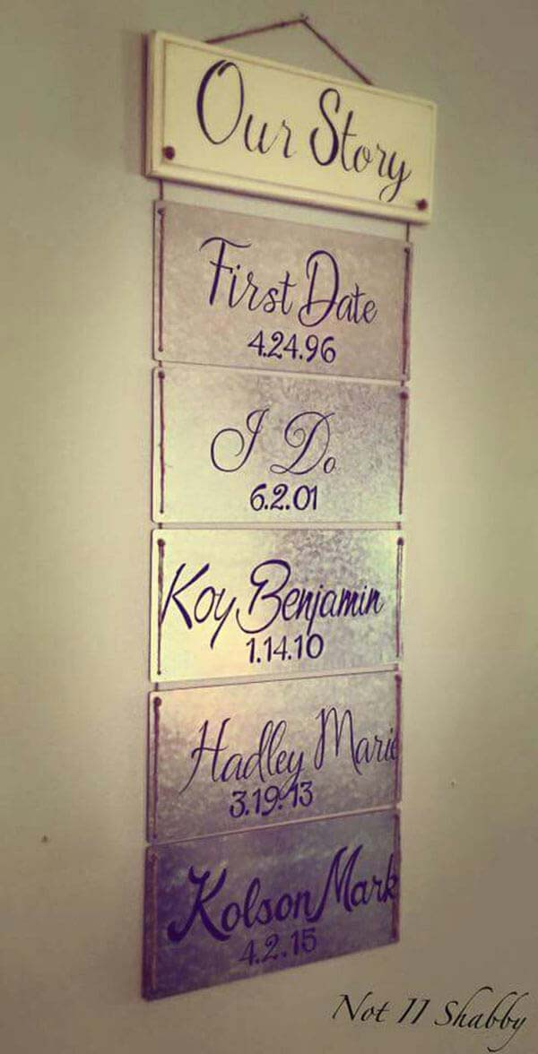 Connected Plaques Telling Our Story #family #homedecor #decorhomeideas