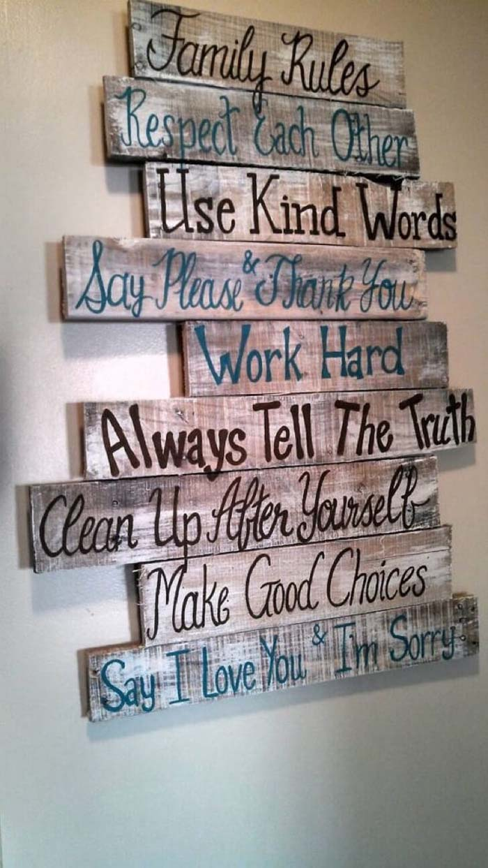 Family Rules to Remember and Follow #family #homedecor #decorhomeideas