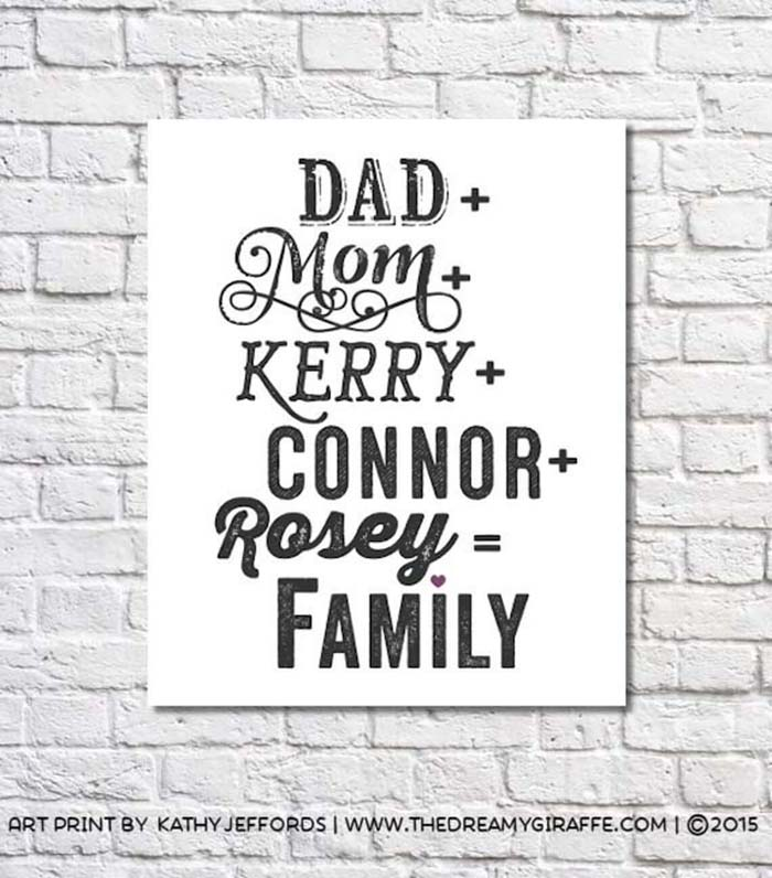 Name Plaque with Individual Name Styles #family #homedecor #decorhomeideas