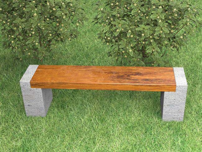Nature Loving Forest Meadow Bench #diy #outdoorbench #decorhomeideas