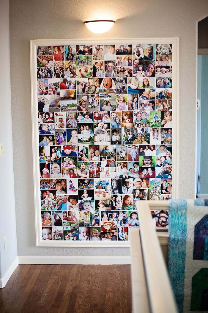 Photo Collection in a Colorful Collage #family #homedecor #decorhomeideas