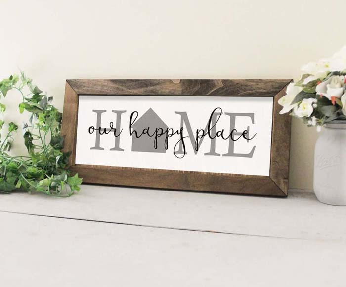 Welcome Sign with Rustic Wooden Frame #family #homedecor #decorhomeideas