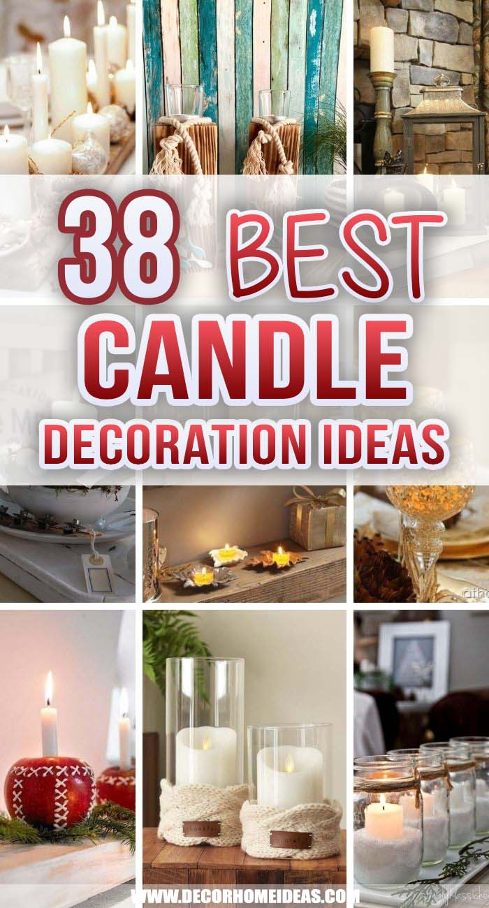 Best Candle Decoration Ideas. Fill your home with love and warmth with these charming candle decorations ideas! Create beautiful centerpieces and arrange them as shown in these candle decor ideas. #decorhomeideas